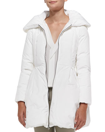 Blakeley Puff-Collar Coat