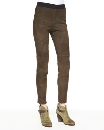 Roxana Slim Stretch Leather Pants