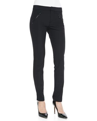 Ava Slim-Leg Techy Pants