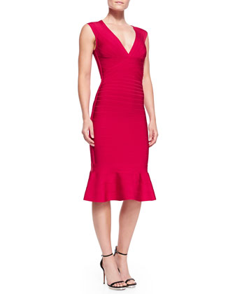 Camillia Flare-Hem Bandage Dress