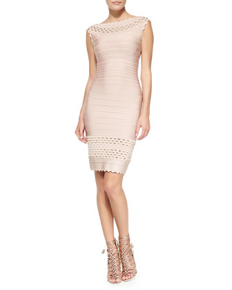 Ardell Studded Scalloped Bandage Dress