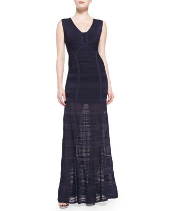 Miriam Pointelle-Skirt Bandage Gown
