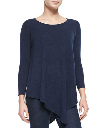 Tambrel Oversize V-Neck Sweater, Midnight