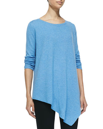 Tambrel Oversize Boat-Neck Sweater, Dusty Sky