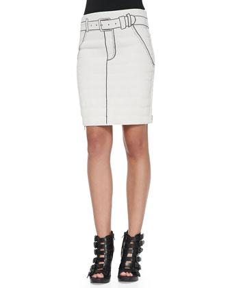Tromp L'Oeil Printed Side-Zip Miniskirt