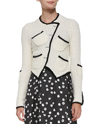 Tromp L'Oeil Asymmetric Knit Jacket
