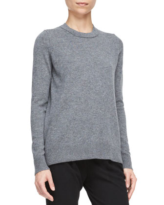 Cashmere Back-Overlay Top