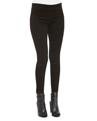 Suede Mid-Rise Leggings