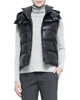 Detachable Hoodie Puffer Vest