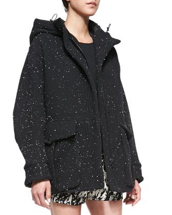 Thompson Splattered Jersey Coat