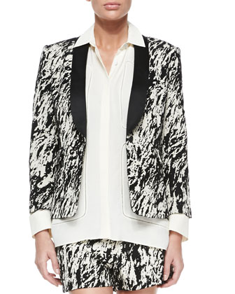 Harper One-Button Blazer