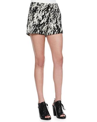 Em Printed Twill Shorts
