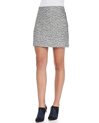 Lucille Silk-Blend Skirt