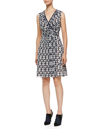Leyna Printed Surplice Georgette Dress