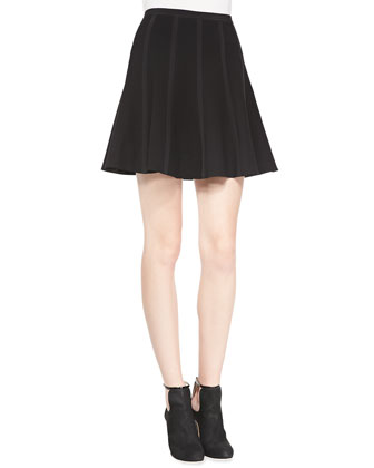 Lauren Crepe Pleated Skirt