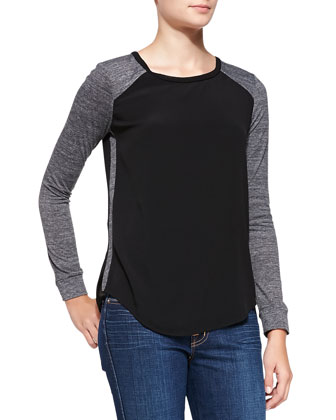 Stacy Long-Sleeve Combo Top