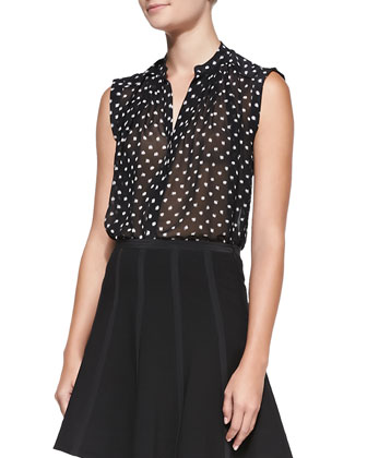 Dotty Printed Sleeveless Top