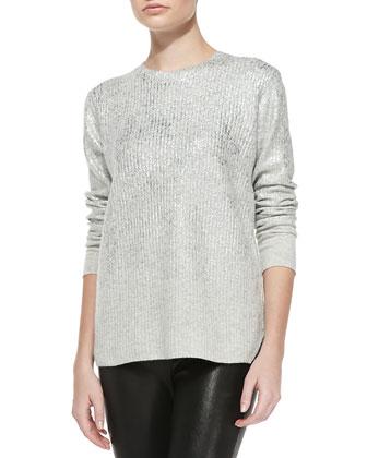 Foil Long-Sleeve Pullover