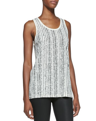 Cast Sleeveless Tank Top, Almond