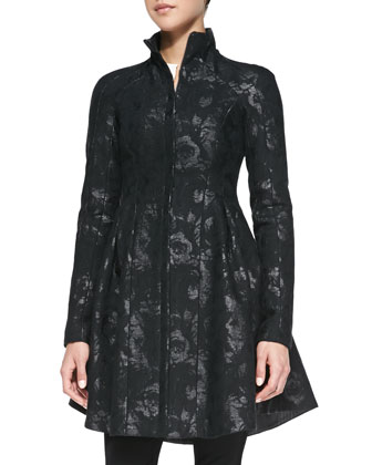 Skyscape Shimmery Brocade Coat