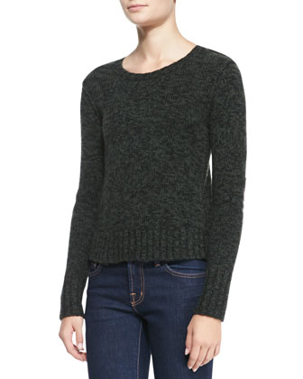 Elbow-Patch Cashmere Sweater