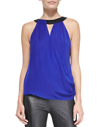 Lane Sleeveless Silk Blouse