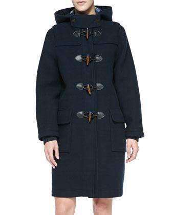 Paddington Hooded Toggle-Front Coat
