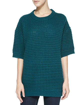 Walley Waffle-Rib Knit Sweater