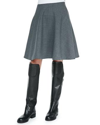 Sixties Wool-Blend Miniskirt