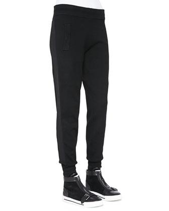 Jon Straight-Leg Wool Sweatpants