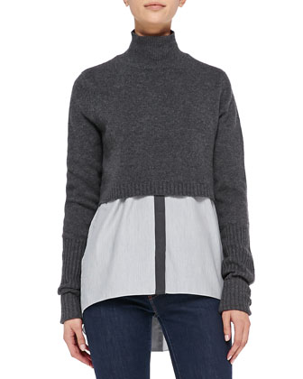 Raleigh Cashmere Cropped Sweater