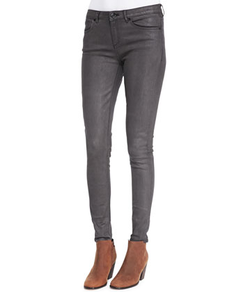 Azella Leather-Coated Jeans