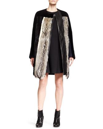 Mixed-Fur Combo Jacket