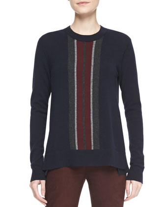 Cashmere Regimental-Stripe Sweater