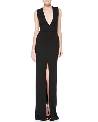 Kahlo Center Slit Maxi Dress