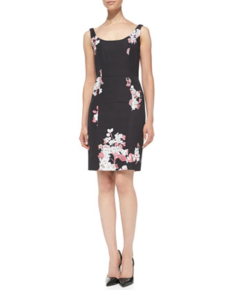 Sophia Floral-Print Sheath Dress