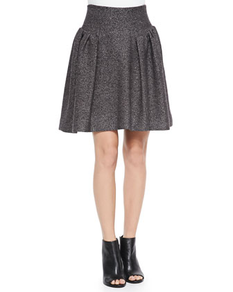 Gathered Tweed Skirt