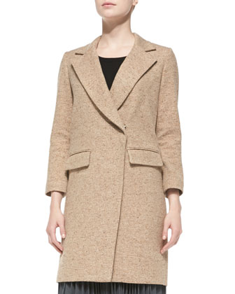 Cleo Tweed Bracelet-Sleeve Coat