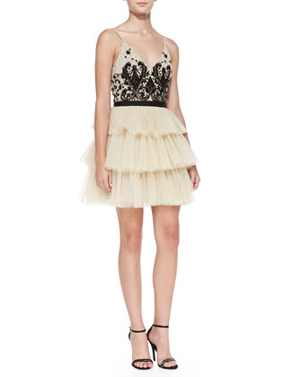 Drury Beaded Tulle Ballerina Cocktail Dress