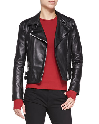 Joan Leather Moto Jacket
