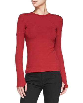 Basic Long-Sleeve Jersey Top