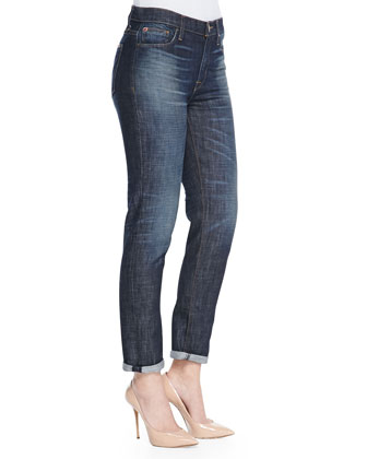 Jude Slouchy Cuffed Faded Jeans, Rebellion