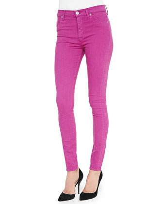 Barbara High-Waist Skinny Jeans, Hot Shot
