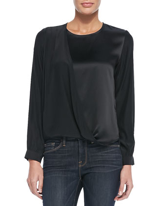 Le Drape Satin/Charmeuse Top