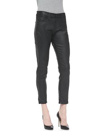 Beau Leatherette Slouchy Skinny Jeans