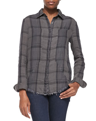 Long-Sleeve Plaid Industrial Shirt