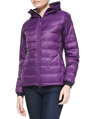 Camp Hooded Puffer Jacket, Arctic Dusk
