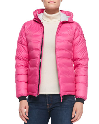 Camp Hooded Puffer Jacket, Pink