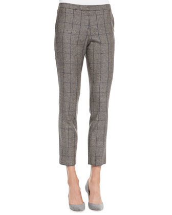 Item Windowpane-Check Cropped Pants