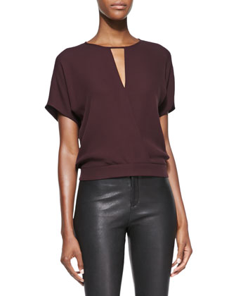 Blaire Short-Sleeve Blouson Top